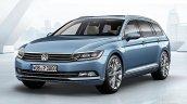 2015 VW Passat press image estate front three quarters
