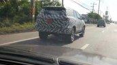 2016 Toyota Fortuner spied in Thailand rear three quarter