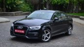 Audi A3 Sedan Review black front quarter