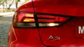 Audi A3 Sedan Review taillight halogen
