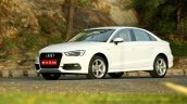 Audi A3 Sedan Review white front quarter