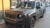 Fiat 500X SUV spied front quarter