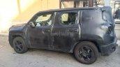 Fiat 500X SUV spied rear quarter