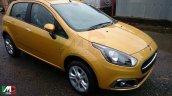 Fiat Punto facelift fully revealed spyshot front three quarter