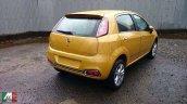 Fiat Punto facelift fully revealed spyshot rear three quarter
