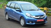 Honda Mobilio Petrol Review front quarters