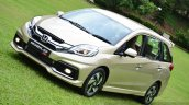 Honda Mobilio RS India live image front view shot
