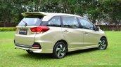 Honda Mobilio RS India live image rear quarter shot
