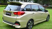 Honda Mobilio RS India live image rear three quarter