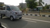 Mahindra P601 spied rear front three quarters