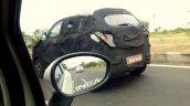 Mahindra S101 caught testing in India rear three quarters angle