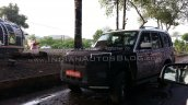 Mahindra Scorpio facelift spied front three quarters