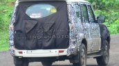 Mahindra Scorpio facelift spied rear three quarters