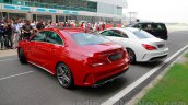Mercedes CLA 45 AMG red and white colours India launch