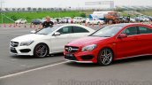 Mercedes CLA 45 AMG red and white front India launch