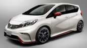 Nissan Note NISMO front three quarters press image