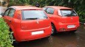 Tata Fiat Punto Evo vs Fiat Grande Punto rear fascia
