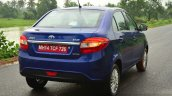 Tata Zest Diesel F-Tronic AMT Review rear quarter angle