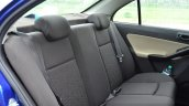 Tata Zest Diesel F-Tronic AMT Review rear seat back