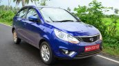 Tata Zest Revotron Petrol Review front three quarter view
