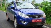 Tata Zest Revotron Petrol Review headlight