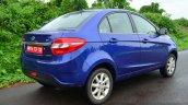 Tata Zest Revotron Petrol Review rear quarter