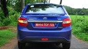 Tata Zest Revotron Petrol Review rear shot