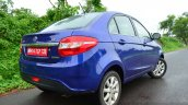 Tata Zest Revotron Petrol Review rear three quarter