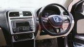 VW Polo facelift spied steering wheel