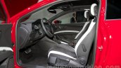 2014 Seat Leon Cupra front seats at the Moscow Motor Show 2014