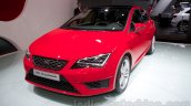 2014 Seat Leon Cupra front three quarters at the Moscow Motor Show 2014