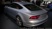 2015 Audi A7 rear thee quarter left at the Moscow Motorshow 2014
