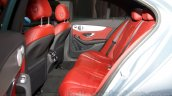 2015 Mercedes C Class rear seat at the 2014 Moscow Motor show