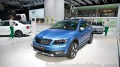 2015 Skoda Octavia Scout front left three quarter at the 2014 Moscow Motor Show