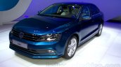 2015 VW Jetta facelift at the 2014 Moscow Motor front quarter