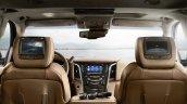 Cadillac Escalade Platinum press image rear seat entertainment package