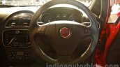 Fiat Punto Evo steering wheel at the launch