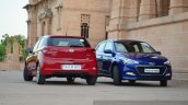 Hyundai Elite i20 Diesel Review blue and red
