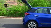 Hyundai Elite i20 Diesel Review boot lid