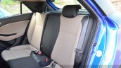 Hyundai Elite i20 Diesel Review rear seat