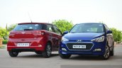 Hyundai Elite i20 Diesel Review red and blue