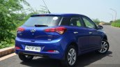 Hyundai Elite i20 Petrol Review rear quarter