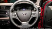 Hyundai Elite i20 launch steering wheel
