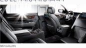 Hyundai Equus Limousine rear seat press image