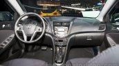 Hyundai Solaris facelift 2014 Moscow live dashboard