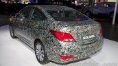 Hyundai Solaris facelift 2014 Moscow live rear quarter
