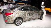 Hyundai Solaris facelift 2014 Moscow live rear quarters
