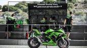 Kawasaki Ninja 300 Special Edition paddock shot