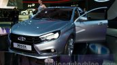 Lada Vesta Concept front left three quarter at the Moscow Motor Show 2014