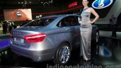 Lada Vesta Concept rear three quarter at the Moscow Motor Show 2014